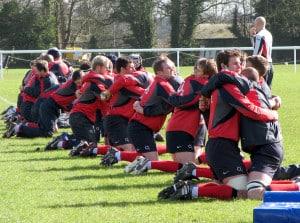 John Pryor rugby training